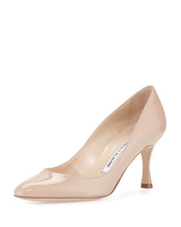 Lisa Patent Almond-Toe Pump