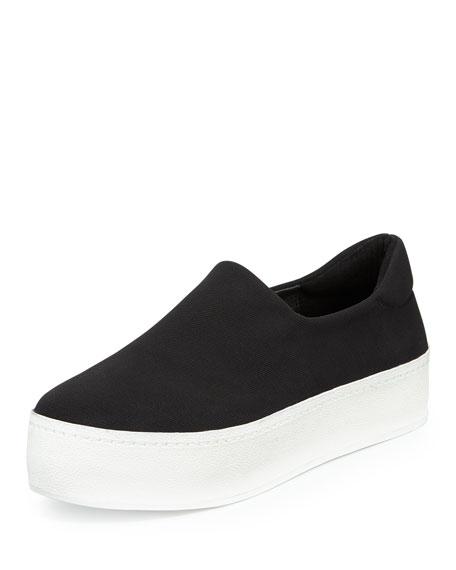 Slip-On Woven Platform Sneaker
