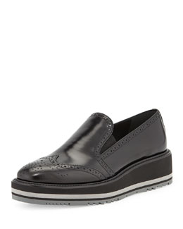 Platform Leather Wingtip Creeper