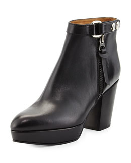 Orbit Tabbed Leather Ankle Boot