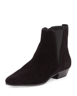 Patsha Suede Point-Toe Bootie