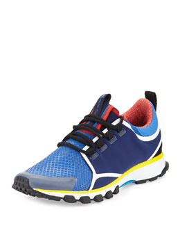 Adizero XT Multicolor Woven Sneaker, Black/Blue/Yellow