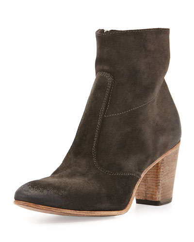 Diva Suede Ankle Boot, Black
