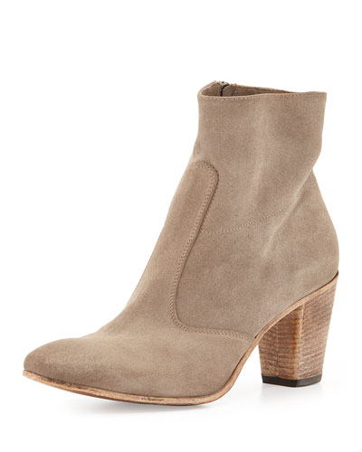 Diva Suede Ankle Boot, Sand