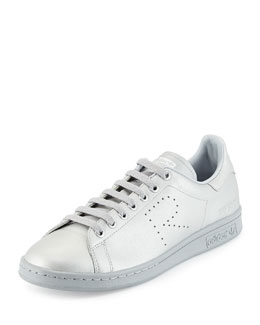 Stan Smith Metallic Leather Sneaker, Silver