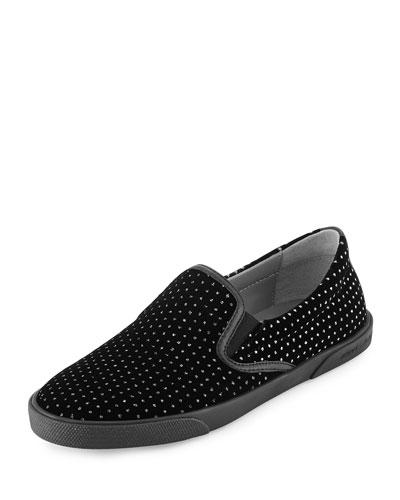 Demi Glitter Dotted Velvet Skate Shoe