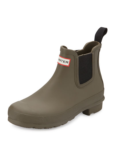Original Chelsea Rubber Ankle Boot, Swamp Green