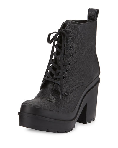 Original Grainy Leather Lace-Up Boot