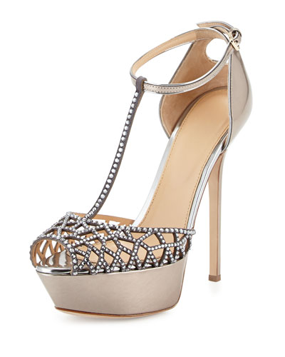 Tresor Strass Crystal T-Strap Sandal