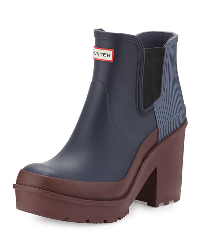 Original Ribbed-Back Block-Heel Rainboot