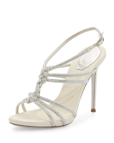 Braided Crystal Slingback Sandal