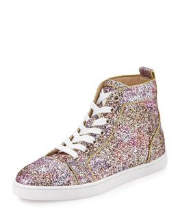 Bip Bip Glitter Aquarium High-Top Sneaker, Rosette