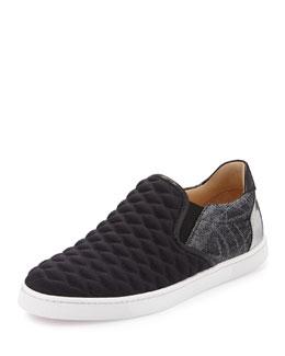 Master Key Flat Skate Sneaker, Black/Silver