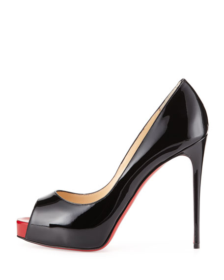 watch dbdfb 72a80 New Very Prive Patent Red Sole Pump Black/Red