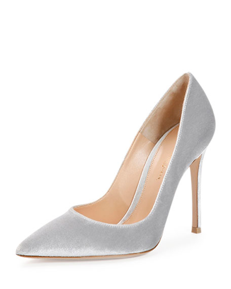 Velvet Point-Toe Pump