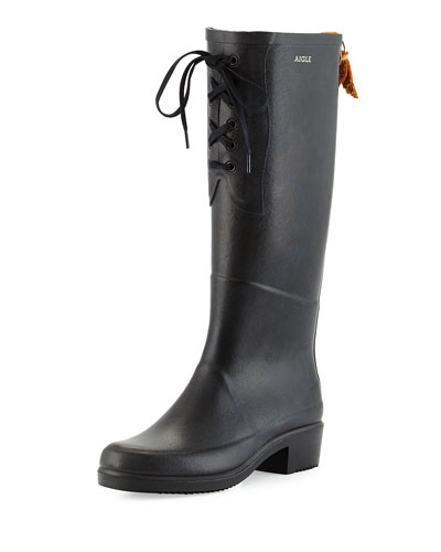 Miss Juliette Lace-Front Rainboot