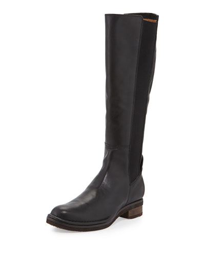 Belluno Leather Flat Knee Boot