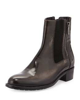 Odelia Brushed Leather Ankle Boot