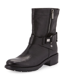 Sami Crisscross Buckled Mid-Calf Boot