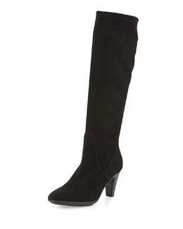 Damara Stretch Suede Knee Boot
