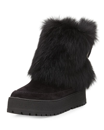 Fold-Over Fur & Suede Winter Boot