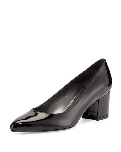 Firstclass Patent Leather Pump, Black