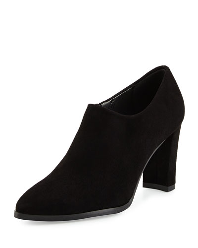 Standin Suede Point-Toe Bootie