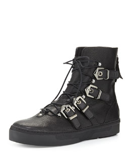Takeahike Leather Lace-Up Boot, Black