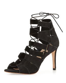 Lottie Nubuck Lace-Up Sandal