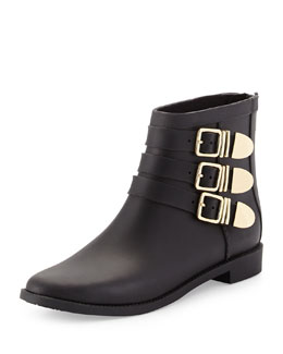 Fenton Triple-Buckled Ankle Rainboot