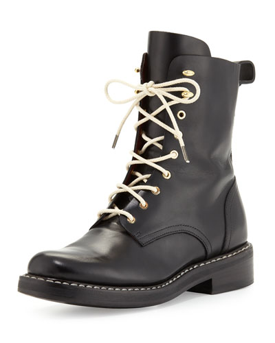Emil Leather Combat Boot