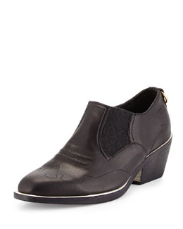 Finlay Leather Western Ankle Boot