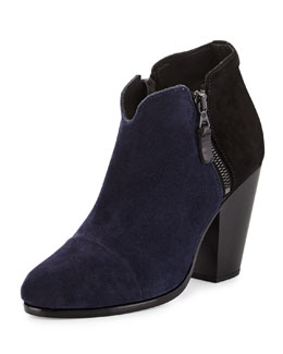 Margot Colorblock Suede Ankle Boot