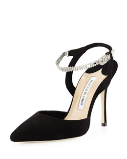 Ministra Crystal Ankle-Strap Pump