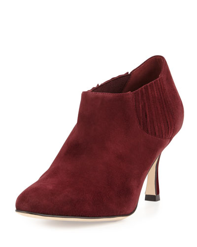 Livrea Stretch Suede Ankle Boot, Wine