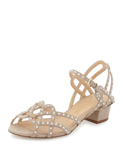 Joie de Vivre Studded City Sandal, Warm Gray