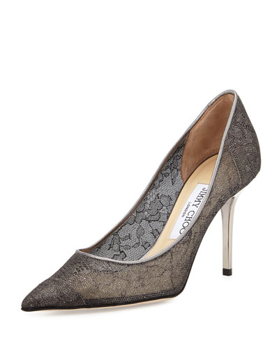 Agnes Lace 85mm Pump, Anthracite