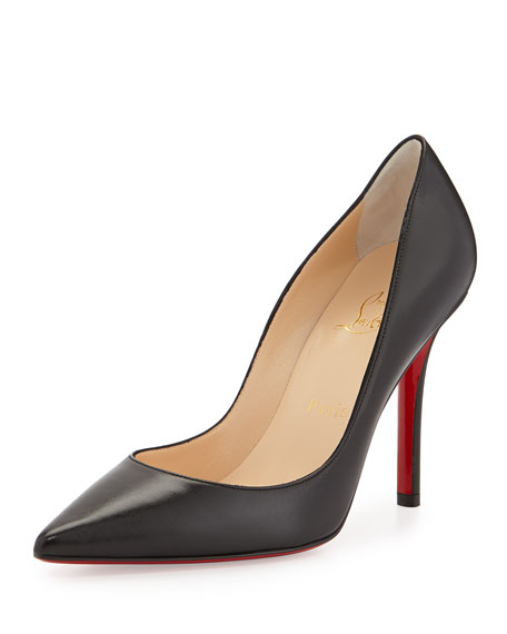 reputable site 96f31 4828f Apostrophy Pointed Red-Sole Pump Black