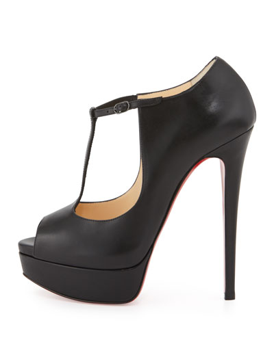 christian louboutin pumps Black suede T-strap | cosmetics digital ...