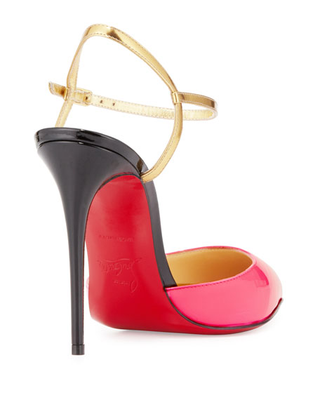 Rivierina Patent Red Sole Pump, Shocking Pink