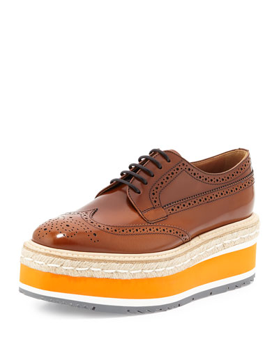 Spazzolato Mircosole Lace-Up, Light Brown