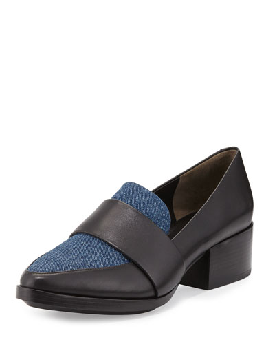 Quinn Denim & Leather Loafer