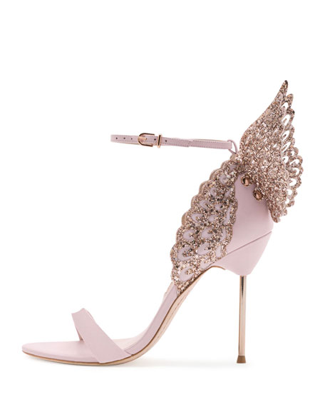 dd5beaa3b6f Evangeline Glittered Butterfly Sandal Pink