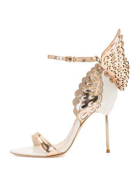 Evangeline Glittered Butterfly Sandal, Pink