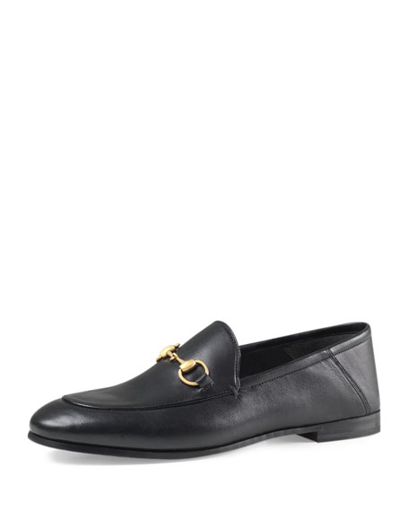 a74a9d204 Gucci Brixton Leather Horsebit Loafer, Black