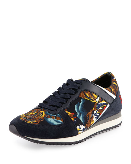 6c0ad499 Tiger-Print Low-Top Sneaker Multi