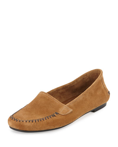 Speed Suede Moccasin Flat, Hazel