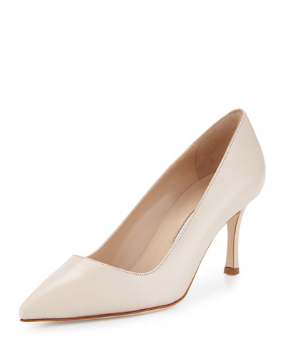 BB 70mm Calf Leather Pump, Ivory