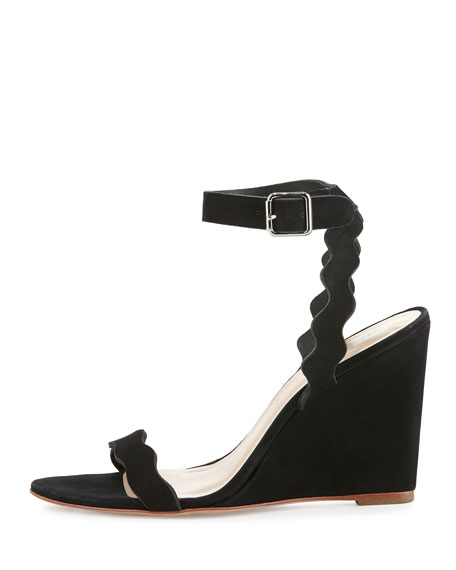 Piper Curvy Wedge Sandal, Black