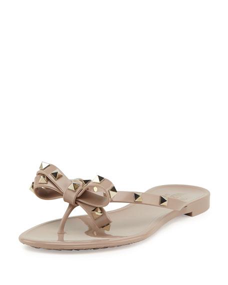 33204d55a0 Valentino Rockstud PVC Thong Sandals
